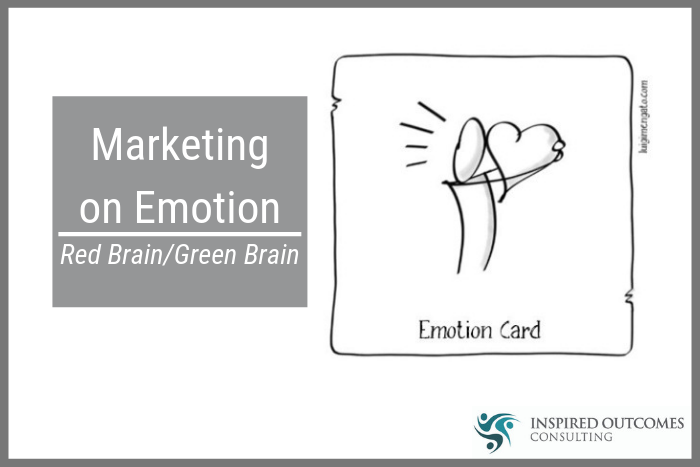 cartoon hugging a heart marketing on emotion